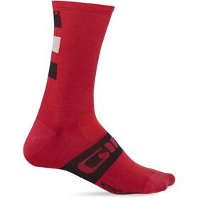 Giro Seasonal Merinowolle Socken dark red/black/grey